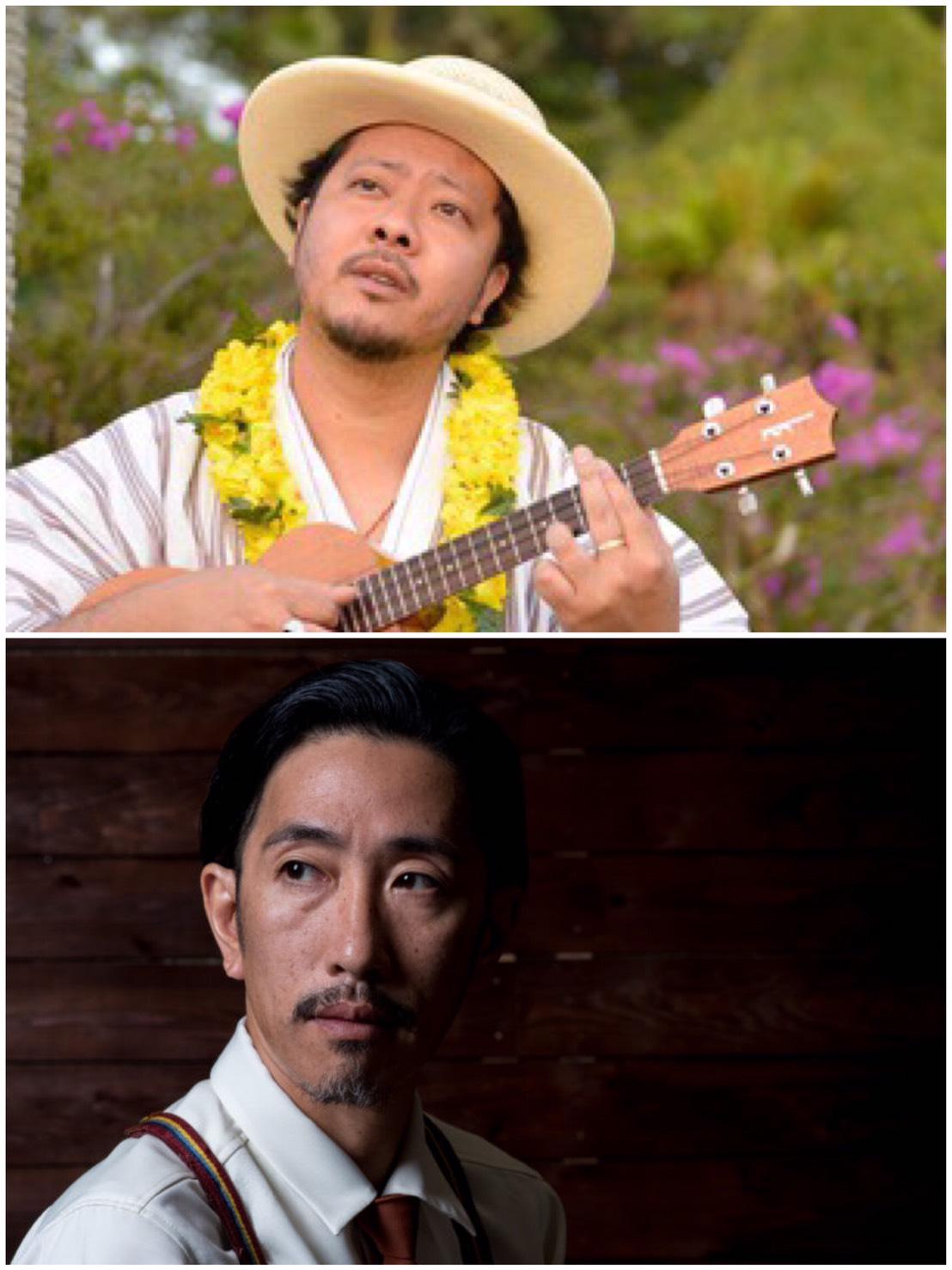 UKULELE GYPSY キヨサク from MONGOL800 Vo,Ukulele 松井朝敬 from Sweet Hollywaiians Steel Guitar,Ukulele